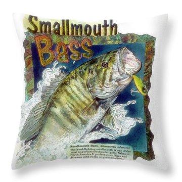 Smallmouth Bass Throw Pillow