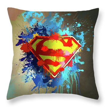 Man Of Steel Throw Pillows