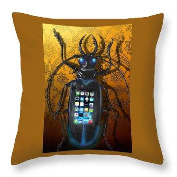 Smart Phone Throw Pillow by Larry Butterworth