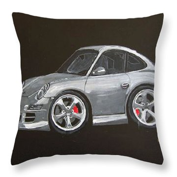 Throw Pillow featuring the painting Smart Porsche by Richard Le Page