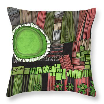 Sun Gone Green Throw Pillow by Sandra Church