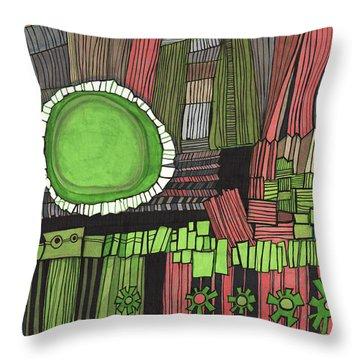 Sun Gone Green Throw Pillow