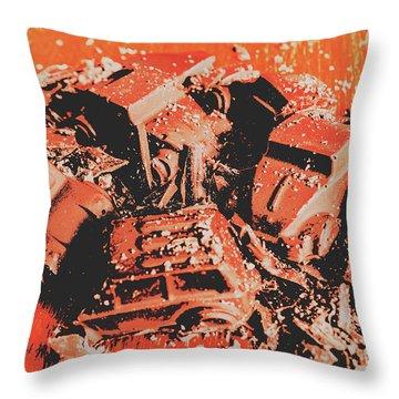 Smashem Crashem Cars Throw Pillow