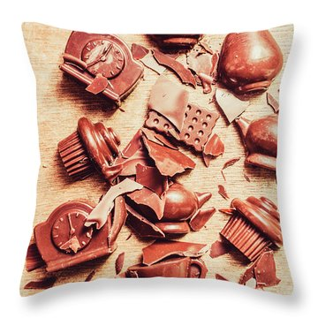 Smashing Chocolate Fondue Party Throw Pillow