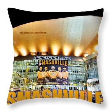 Smashville Throw Pillow