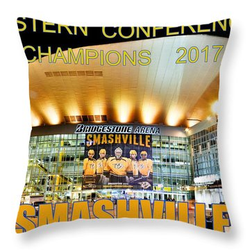Smashville Western Conference Champions 2017 Throw Pillow