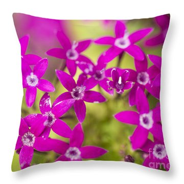 Smell Purple Throw Pillow