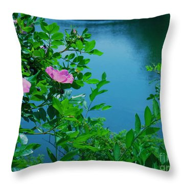 Smell The Roses Throw Pillow
