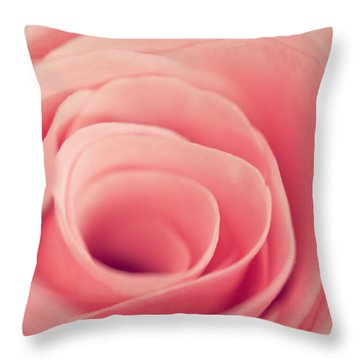 Smell The Roses Throw Pillow by Yvette Van Teeffelen