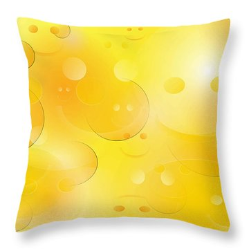 Smile Throw Pillow by Denise Fulmer