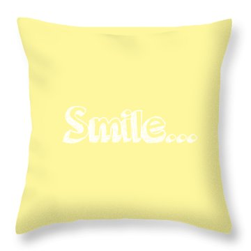Smile Throw Pillow by Inspired Arts