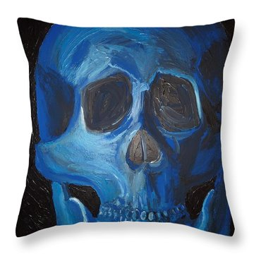 Smile Throw Pillow by Joshua Redman