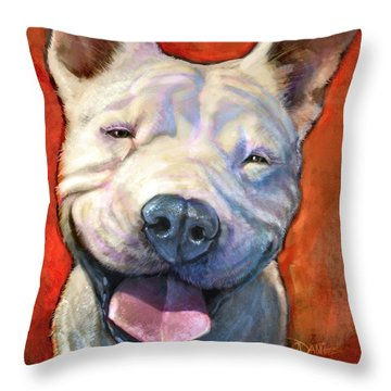 Smile Throw Pillow by Sean ODaniels