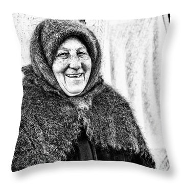 Throw Pillow featuring the photograph Smiler by John Williams