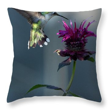 Smiles In The Garden Throw Pillow