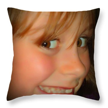 Smiles Throw Pillow