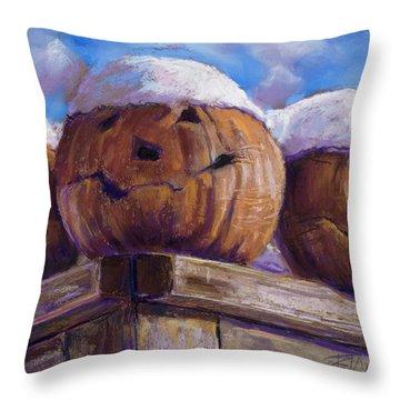 Smilin Jacks Throw Pillow by Billie Colson