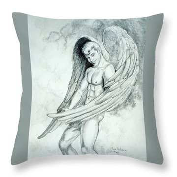 Smiling Angel Throw Pillow