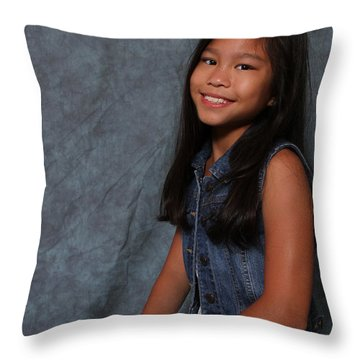 Throw Pillow featuring the photograph Smiling Cutie by Robert Hebert