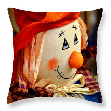 Smiling Face 2 Throw Pillow by Julie Palencia