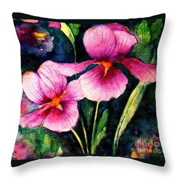 Smiling Iris Faces  Throw Pillow