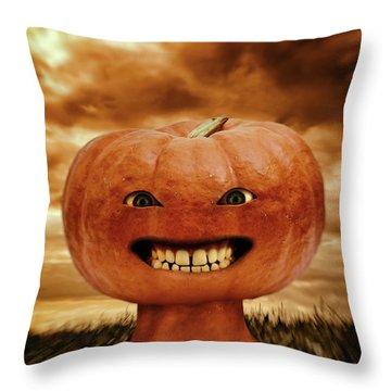 Smiling Jack Throw Pillow