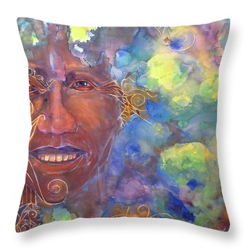 Smiling Muse No. 1 Throw Pillow