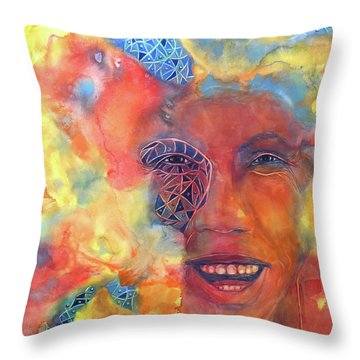 Smiling Muse No. 2 Throw Pillow