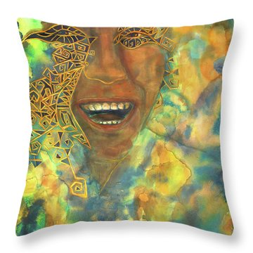 Smiling Muse No. 3 Throw Pillow