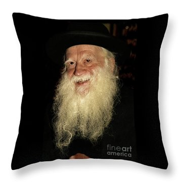 Rabbi Yehuda Zev Segal - Doc Braham - All Rights Reserved Throw Pillow