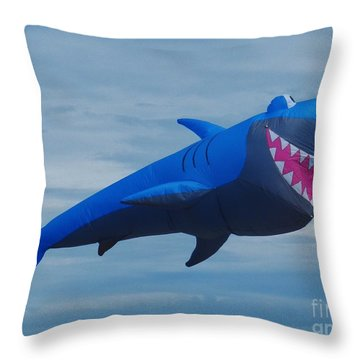 Smiling Shark Throw Pillow