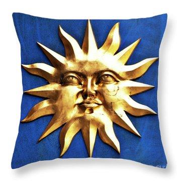 Smiling Sunshine Throw Pillow by Meirion Matthias