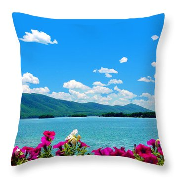 Smith Mountain Lake Grand View Throw Pillow