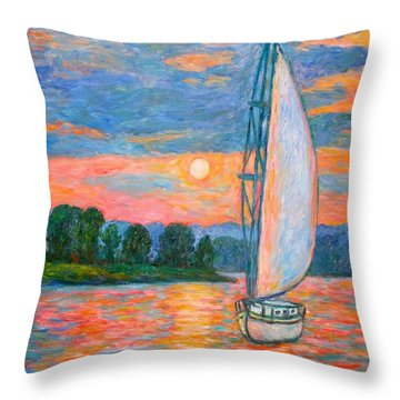 Smith Mountain Lake Throw Pillow