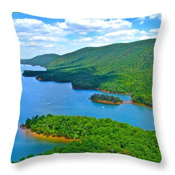 Smith Mountain Lake Poker Run Throw Pillow