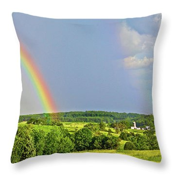 Smith Mountain Lake Rainbow Throw Pillow