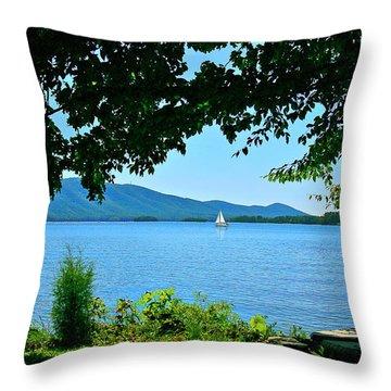 Smith Mountain Lake Sailor Throw Pillow by The American Shutterbug Society