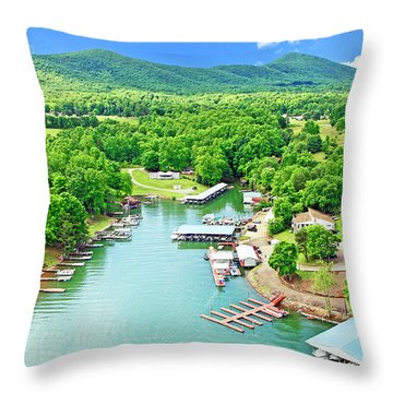 Smith Mountain Lake, Virginia. Throw Pillow