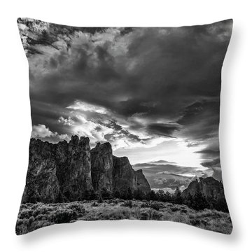 Smith Rock Fury Throw Pillow