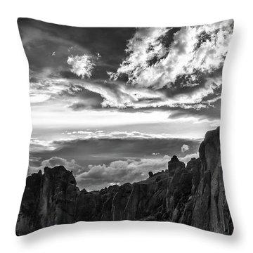 Smith Rock Skies Throw Pillow