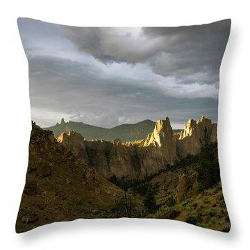 Smith Rock Sky Throw Pillow