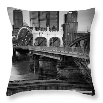 Smithfield Street Bridge 7 Throw Pillow