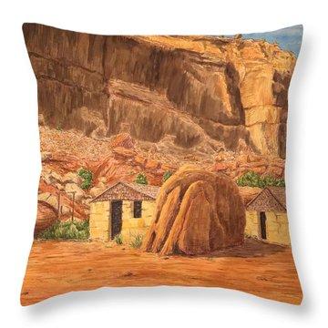 Smiths Cabin  Throw Pillow