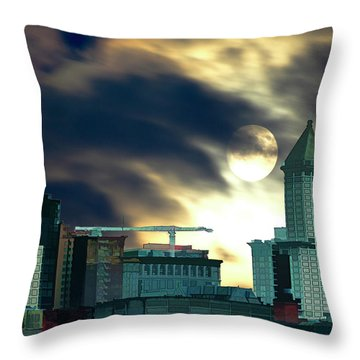 Smithtower Moon Throw Pillow by Dale Stillman