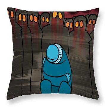 Smog Attack Throw Pillow