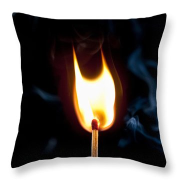 Smoke And Fire Throw Pillow