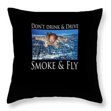 Throw Pillow featuring the painting Smoke And Fly by Tom Roderick