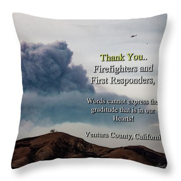 Smoke Cloud Over Two Trees Throw Pillow