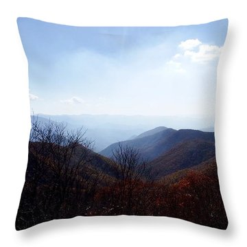 Smoke Of The Smokies Throw Pillow