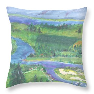 Smoke On Flat Head  Throw Pillow